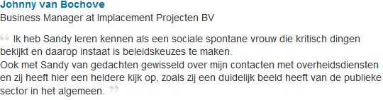 Referentie Johnny van Bochove 2011